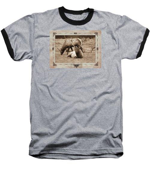 Elk Baseball T-Shirt by Athala Carole Bruckner