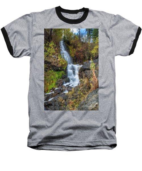 Elk Creek Waterfall Waterscape Art By Kaylyn Franks Baseball T-Shirt