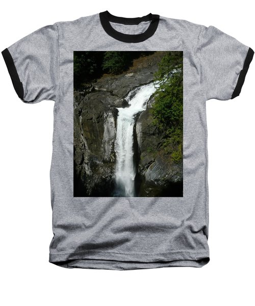 Baseball T-Shirt featuring the painting Elk Falls  by 'REA' Gallery