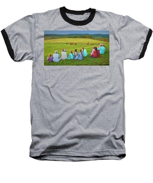 Elk Watch Baseball T-Shirt