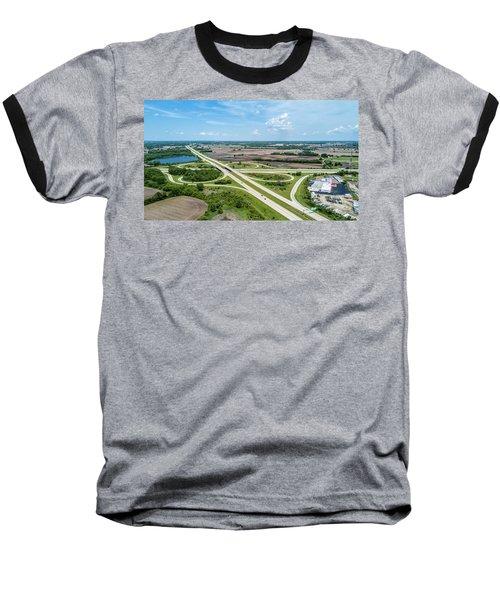 Baseball T-Shirt featuring the photograph Elkhorn Cloverleaf by Randy Scherkenbach