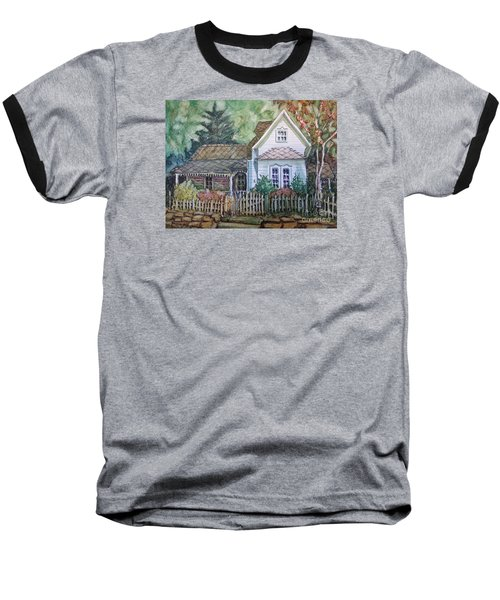Baseball T-Shirt featuring the painting Elma's Home by Gretchen Allen