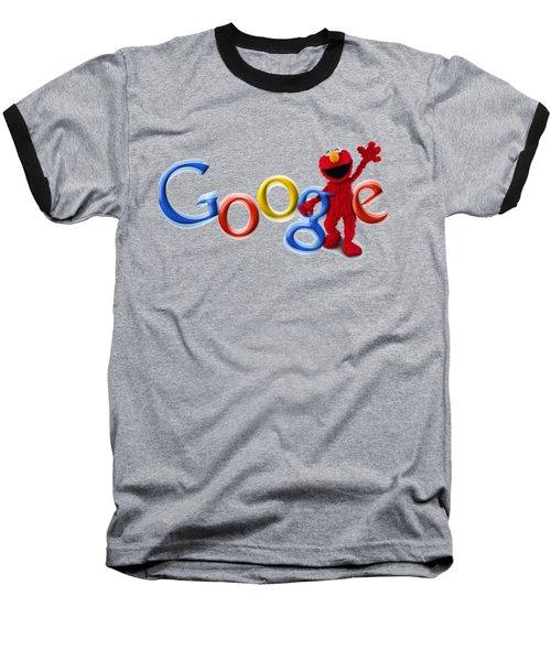 Elmo Google T-shirt Baseball T-Shirt by Herb Strobino