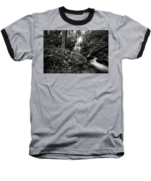 Elora Falls In Black And White Baseball T-Shirt