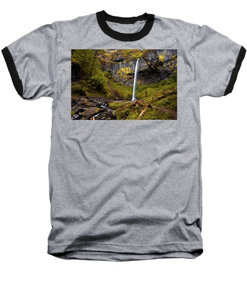 Elowah Falls Oregon Baseball T-Shirt