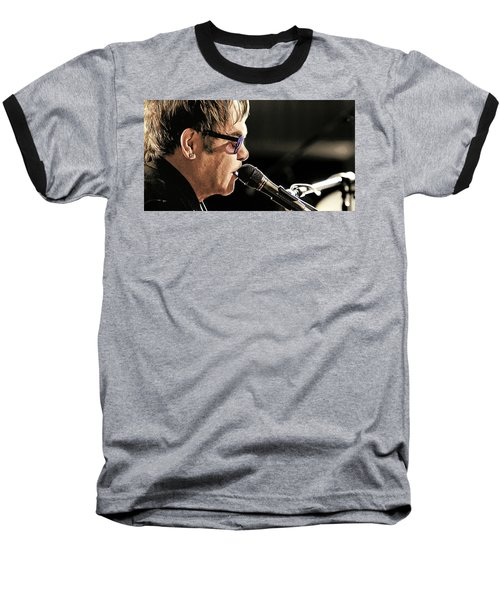 Elton John At The Mic Baseball T-Shirt