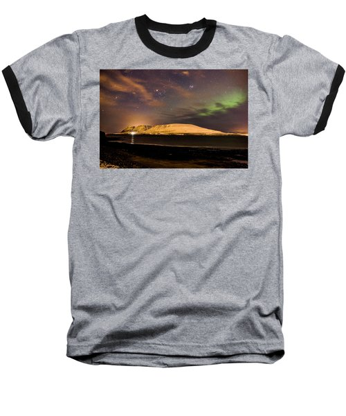 Elv Or Troll And Viking With A Sword In The Northern Light Baseball T-Shirt