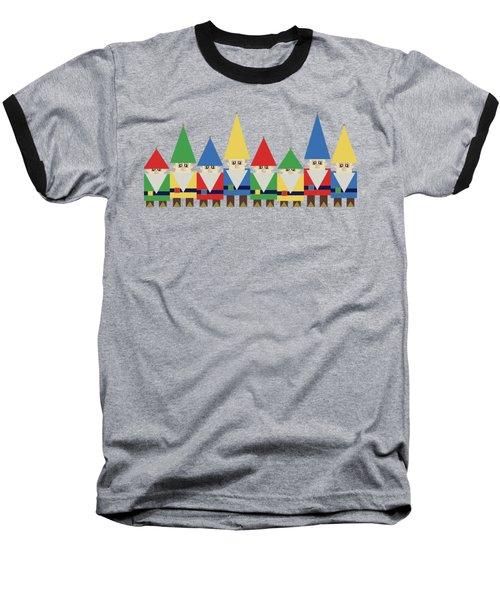 Elves On Blue Baseball T-Shirt