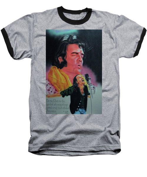 Elvis And Jon Baseball T-Shirt