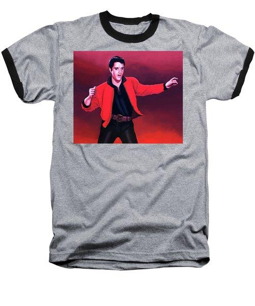 Elvis Presley 4 Painting Baseball T-Shirt