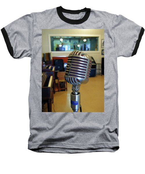 Baseball T-Shirt featuring the photograph Elvis Presley Microphone by Mark Czerniec