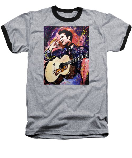 Elvis Presley Baseball T-Shirt by Richard Day