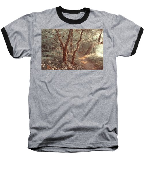 Baseball T-Shirt featuring the photograph Elvish Forest. Nature In Alien Skin by Jenny Rainbow