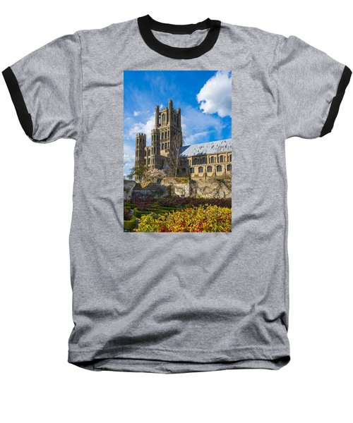 Ely Cathedral And Garden Baseball T-Shirt