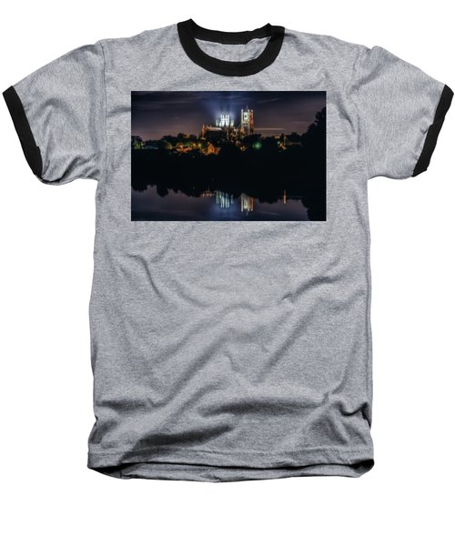 Ely Cathedral By Night Baseball T-Shirt