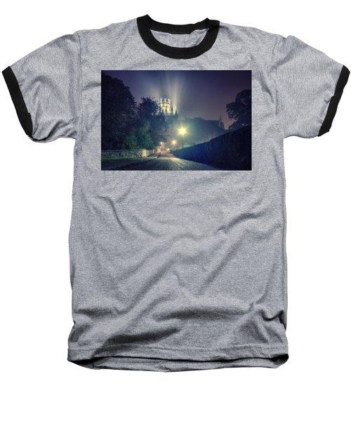 Ely Cathedral - Night Baseball T-Shirt