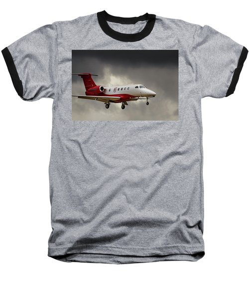 Emb-505  Landing Baseball T-Shirt by James David Phenicie