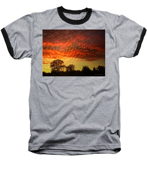 Baseball T-Shirt featuring the photograph Embossed Sunrise by Joyce Dickens