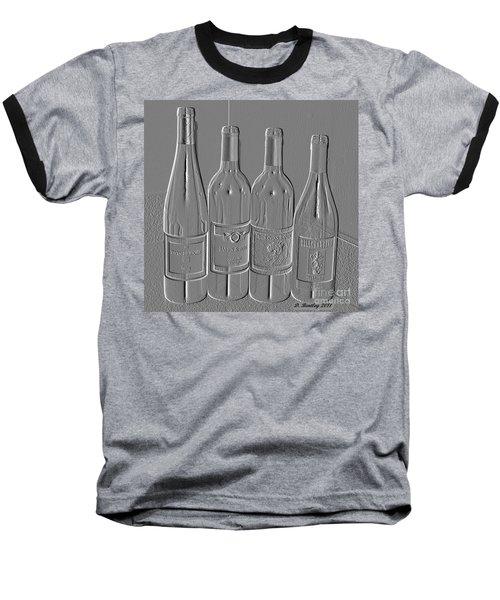 Embossed Wine Bottles Baseball T-Shirt