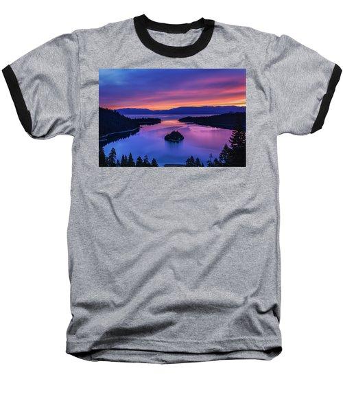 Emerald Bay Clouds At Sunrise Baseball T-Shirt by Marc Crumpler
