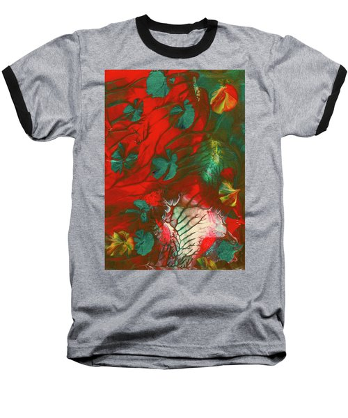 Emerald Butterfly Island Baseball T-Shirt