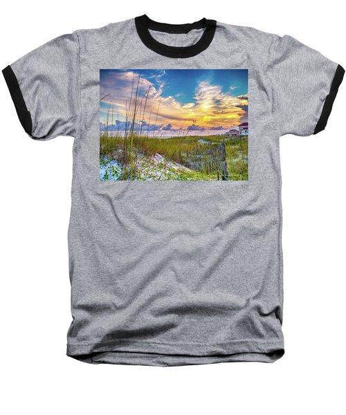 Emerald Coast Sunset Baseball T-Shirt