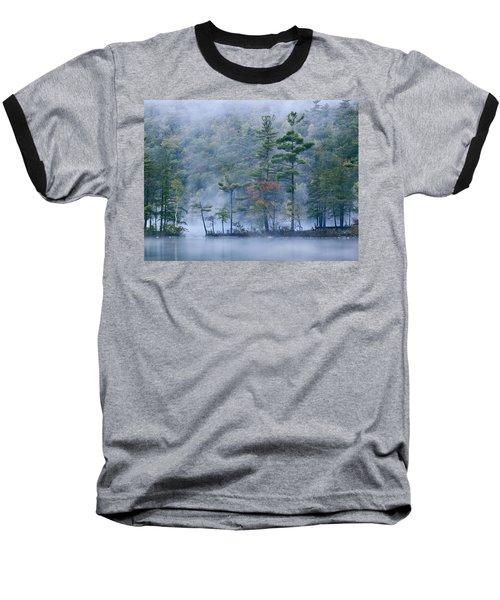 Emerald Lake In Fog Emerald Lake State Baseball T-Shirt