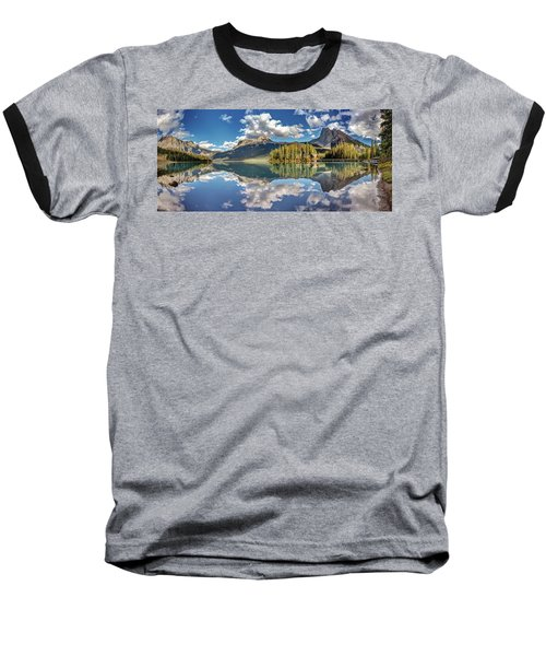 Emerald Lake Panorama Baseball T-Shirt