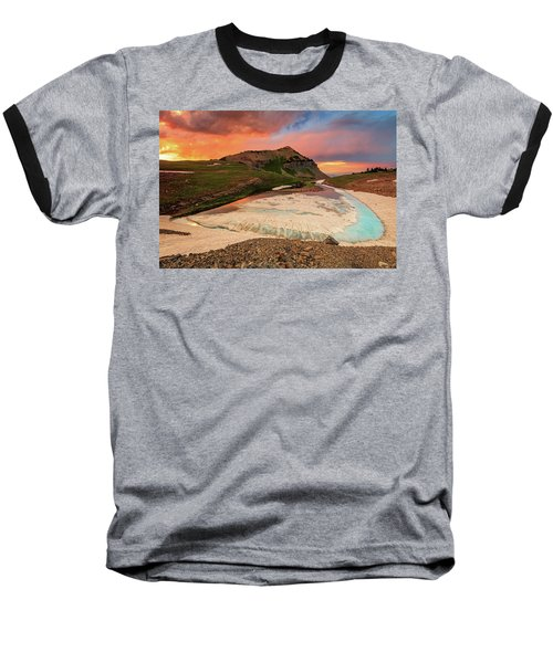 Emerald Lake Sunset Baseball T-Shirt