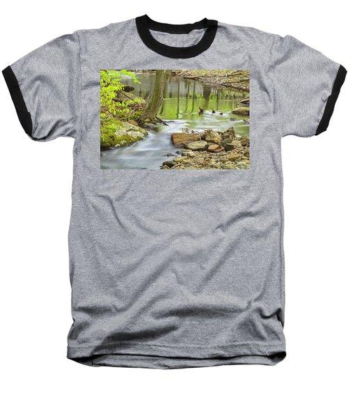 Emerald Liquid Glass Baseball T-Shirt by Angelo Marcialis
