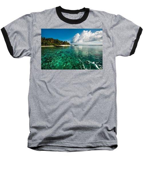 Emerald Purity. Maldives Baseball T-Shirt