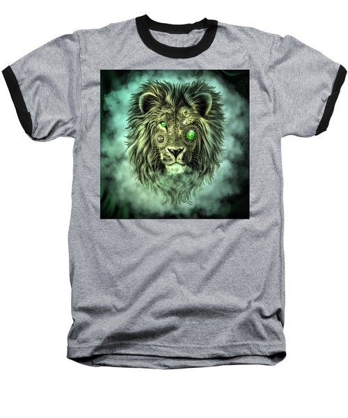 Emerald Steampunk Lion King Baseball T-Shirt