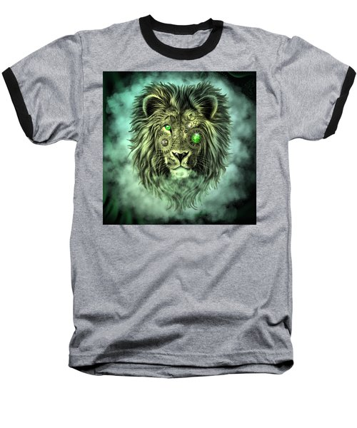 Emerald Steampunk Lion King Baseball T-Shirt