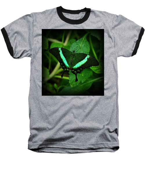 Emerald Swallowtail Baseball T-Shirt
