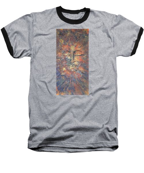 Emerging Buddha Baseball T-Shirt by Theresa Marie Johnson