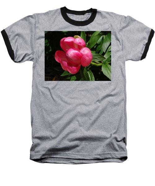 Emerging Peony Bloom Baseball T-Shirt