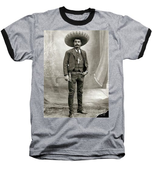 Baseball T-Shirt featuring the photograph Emiliano Zapata by Roberto Prusso