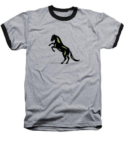 Emma - Pop Art Horse - Black, Greenery, Island Paradise Blue Baseball T-Shirt