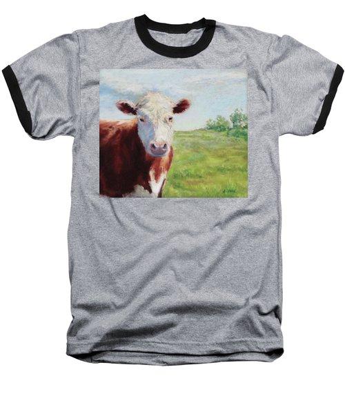 Baseball T-Shirt featuring the painting Emmett by Vikki Bouffard