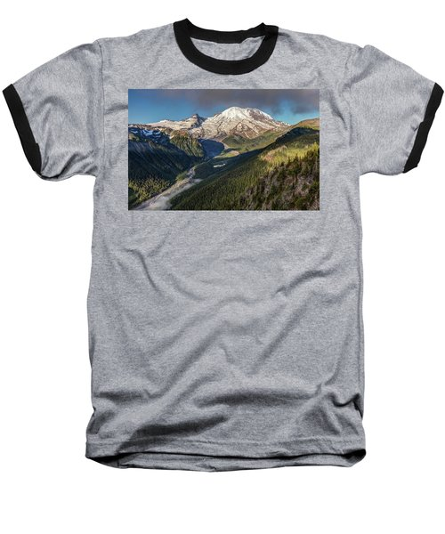 Baseball T-Shirt featuring the photograph Emmons Vista Of Mount Rainier by Pierre Leclerc Photography