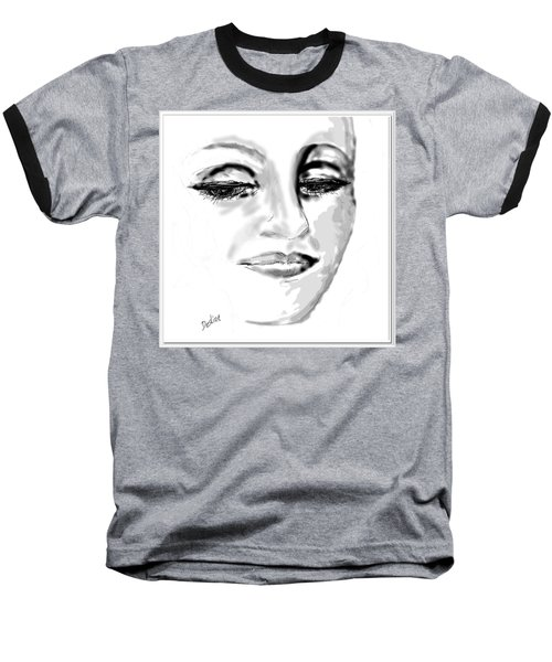 Baseball T-Shirt featuring the drawing Empathy by Desline Vitto