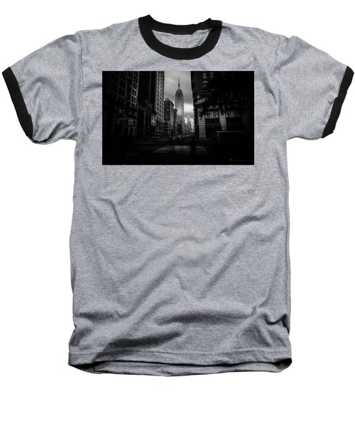 Baseball T-Shirt featuring the photograph Empire State Building Bw by Marvin Spates