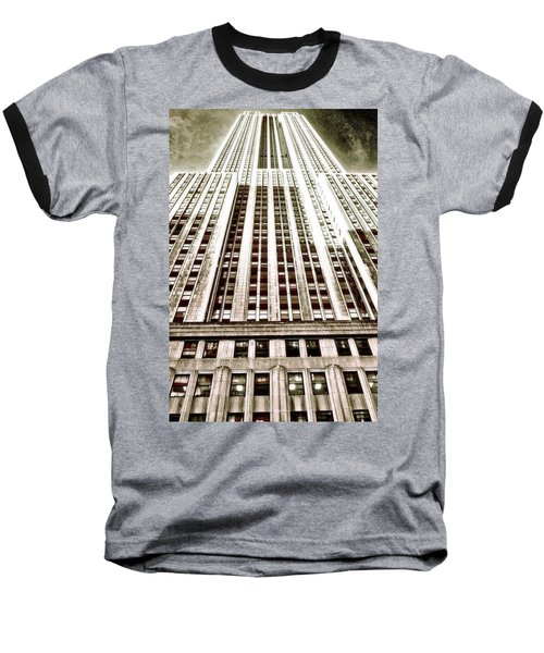 Empire State Building Baseball T-Shirt