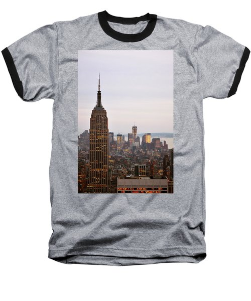 Empire State Building No.2 Baseball T-Shirt by Zawhaus Photography
