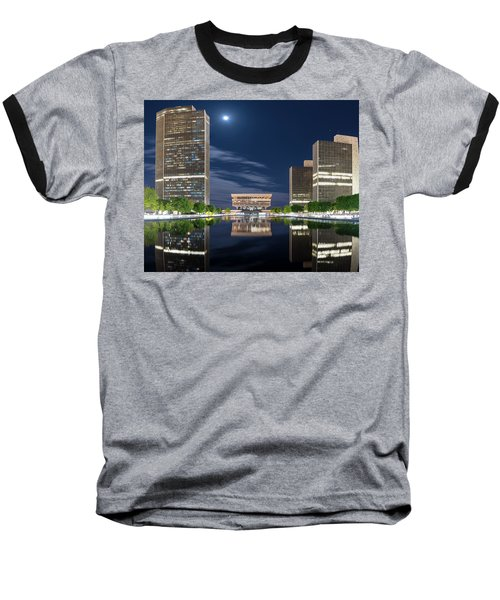 Empire State Plaza Baseball T-Shirt