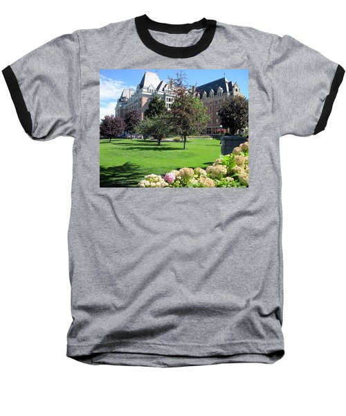 Empress Hotel Baseball T-Shirt by Betty Buller Whitehead