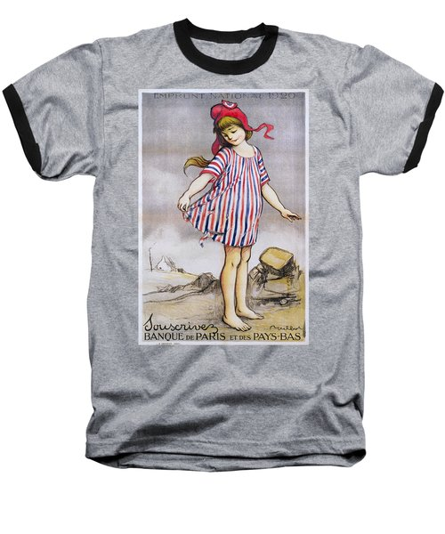 Emprunt National Propaganda Poster, 1920 Baseball T-Shirt