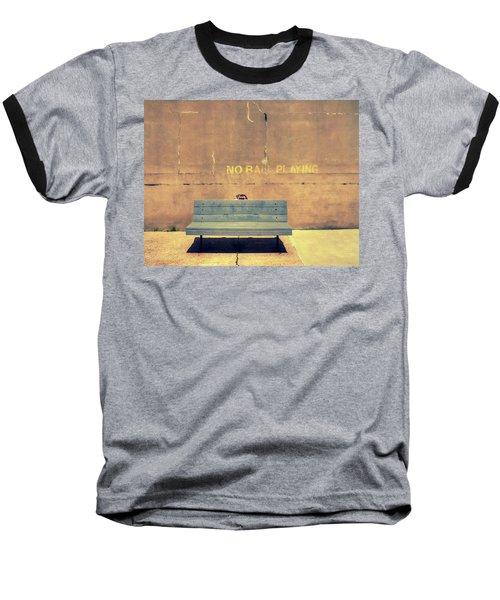 Empty Bench And Warning Baseball T-Shirt