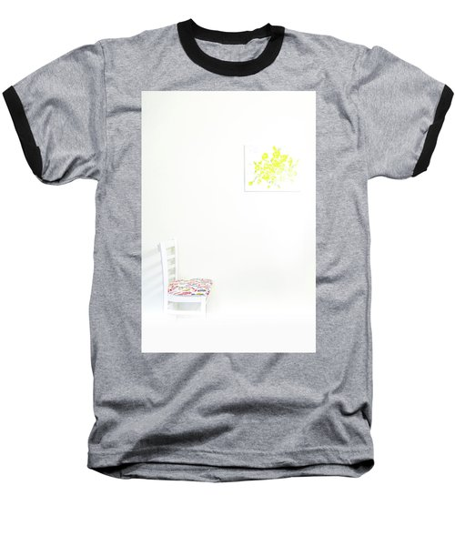 Empty Chair With Yellow Roses Baseball T-Shirt