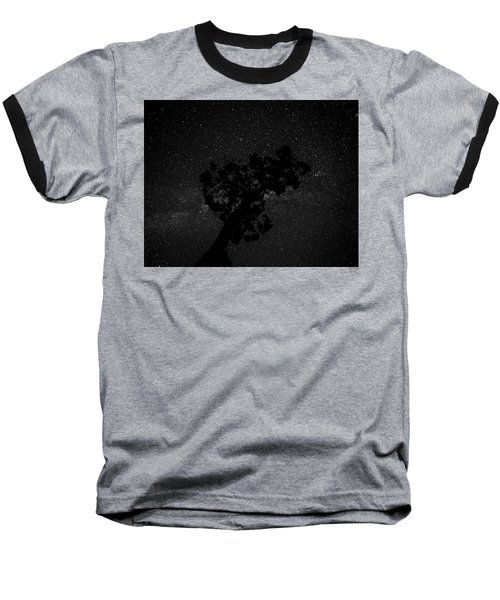 Empty Night Tree Baseball T-Shirt